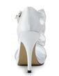Dla kobiet Satyna Szpilki Platforma Sandały Z Bowknot Rhinestone (047011808)