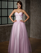 A-Line/Princess Sweetheart Floor-Length Tulle Prom Dress (018005099)