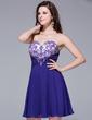 A-Line/Princess Sweetheart Short/Mini Chiffon Homecoming Dress With Ruffle Beading (022025523)