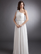 A-Line/Princess One-Shoulder Floor-Length Chiffon Evening Dress With Ruffle Beading (008006411)