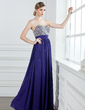 A-Line/Princess Sweetheart Floor-Length Chiffon Prom Dress With Ruffle Beading Sequins (018004908)