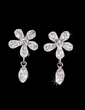 Flower Shaped Alloy/Crystal Ladies' Jewelry Sets (011028528)