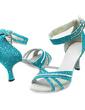 Dla kobiet Sparkling Glitter Obcasy Sandały Latynoska Sala Balowa Z Pasek na Kostce Buty do Tańca (053013273)