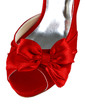 Women's Satin Stiletto Heel Peep Toe Sandals With Bowknot (047039413)