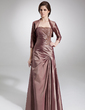 A-Line/Princess Sweetheart Floor-Length Taffeta Mother of the Bride Dress With Ruffle Lace Beading (008006195)