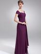 Çan/Prenses Kalp Kesimli Uzun Etekli Şifon Gelin Annesi Elbisesi Ile Büzgü Boncuk (008006065)
