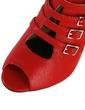 Leatherette Cone Heel Sandals Peep Toe Slingbacks With Buckle shoes (087028464)