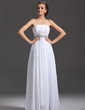 A-Line/Princess Strapless Floor-Length Chiffon Prom Dress With Ruffle Beading Sequins (018005355)