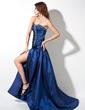 A-formet/Prinsesse Sweetheart Bane-tog Taft Ballkjole med Frynse Perlebesydd Splittet Front (018002492)