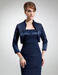 3/4-Length Sleeve Charmeuse Special Occasion Wrap (013018678)