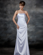 Sheath/Column Sweetheart Floor-Length Charmeuse Evening Dress With Ruffle (017022547)