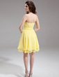 A-Line/Princess Sweetheart Knee-Length Chiffon Homecoming Dress With Ruffle Beading Sequins (022016305)