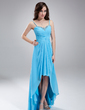 A-Line/Princess Sweetheart Asymmetrical Chiffon Homecoming Dress With Ruffle Beading (022010410)