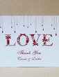 Personalized Love Design Hard Card Paper Thank You Cards (Set of 50) (118029376)
