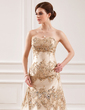 A-Line/Princess Sweetheart Chapel Train Lace Wedding Dress With Beading Sequins (002011432)