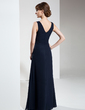A-Line/Princess V-neck Floor-Length Chiffon Mother of the Bride Dress (008005929)