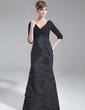 Denizkızı V Yaka Kuyruklu Chiffon Taffeta Gelin Annesi Elbisesi Ile Büzgü (008006893)