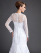 Trumpet/Mermaid Scoop Neck Floor-Length Lace Wedding Dress (002015810)