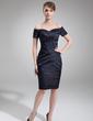 Wąska Off-the-ramię Do Kolan Szarmeza Suknia dla Mamy Panny Młodej (008006335)