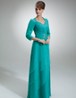 A-Line/Princess Sweetheart Floor-Length Chiffon Mother of the Bride Dress With Ruffle Beading (008005695)