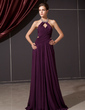 A-Line/Princess Halter Floor-Length Chiffon Evening Dress With Ruffle Beading (017014244)