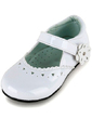 Kids' Leatherette Flat Heel Closed Toe Flats With Hollow-out Flower (047039153)