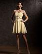 A-Line/Princess Sweetheart Short/Mini Chiffon Homecoming Dress With Ruffle Beading (022020944)