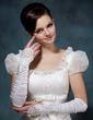Elastic Satin Elbow Length Bridal Gloves (014020515)