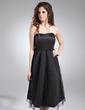 Empire Sweetheart Knee-Length Satin Maternity Bridesmaid Dress With Ruffle (045004405)