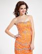 Sheath/Column Sweetheart Short/Mini Charmeuse Cocktail Dress With Beading (016019150)