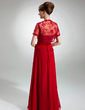 A-Line/Princess Sweetheart Floor-Length Chiffon Mother of the Bride Dress With Ruffle Lace Beading Sequins (008003496)