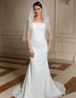 Two-tier Elbow Bridal Veils With Cut Edge (006024472)