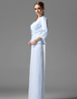 Sheath/Column Strapless Floor-Length Satin Mother of the Bride Dress With Beading (008003492)