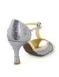 Women's Sparkling Glitter Heels Sandals Latin With T-Strap Dance Shoes (053057149)