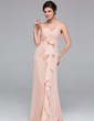 Empire Sweetheart Floor-Length Chiffon Bridesmaid Dress With Cascading Ruffles (007037226)