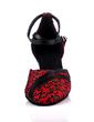 Kadın Nubuk Topuk Pompalar Balo Ile Ayakkabı Askısı Dans Ayakkabıları (053057182)