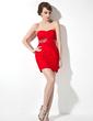 Sheath/Column Sweetheart Short/Mini Chiffon Cocktail Dress With Ruffle Beading (016021286)