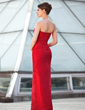Sheath/Column Sweetheart Floor-Length Taffeta Mother of the Bride Dress With Bow(s) (008018724)