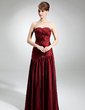 A-Line/Princess Sweetheart Floor-Length Taffeta Bridesmaid Dress With Ruffle Beading (007002098)