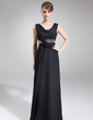 Sheath/Column Cowl Neck Sweep Train Chiffon Mother of the Bride Dress With Ruffle Beading (008005578)