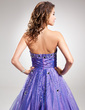 Ball-Gown Strapless Floor-Length Taffeta Quinceanera Dress With Ruffle Beading Sequins (021016356)