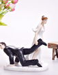 Classic Couple/Funny & Reluctant Wedding/Bridal Shower Resin Cake Topper (122036182)
