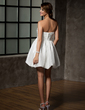 A-Line/Princess Sweetheart Short/Mini Taffeta Homecoming Dress With Ruffle Beading (022009454)