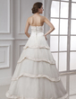 Ball-Gown Sweetheart Floor-Length Organza Wedding Dress (002015480)