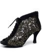 Kadın Saten Topuk Sandalet Pratik Ile Bağcıklı Dans Ayakkabıları (053057388)