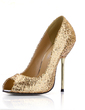Women's Sparkling Glitter Stiletto Heel Peep Toe Sandals With Sequin (047022632)