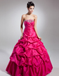 Ball-Gown Strapless Floor-Length Taffeta Quinceanera Dress With Ruffle Beading (021015133)