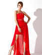 A-Line/Princess One-Shoulder Asymmetrical Chiffon Prom Dress With Ruffle Beading (018021113)