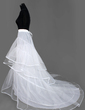 Women Nylon/Tulle Netting Cathedral Train 3 Tiers Petticoats (037004077)