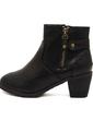 Suni deri Kalın Topuk Ayak bileği Boots Ile Fermuar ayakkabı (088056669)